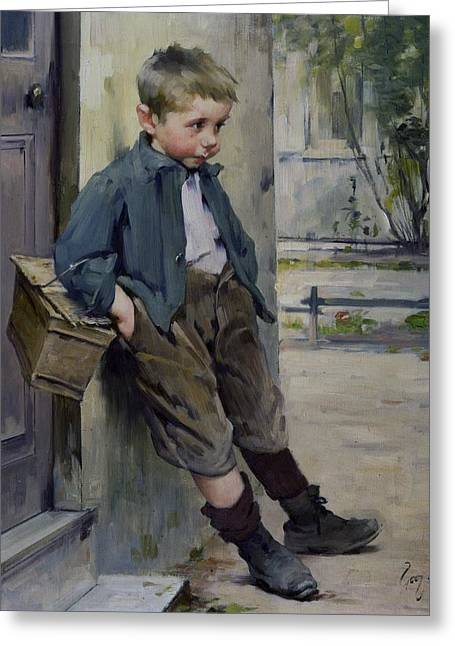 Scruffy Greeting Cards - Out of the Game Greeting Card by Henri Jules Jean Geoffroy
