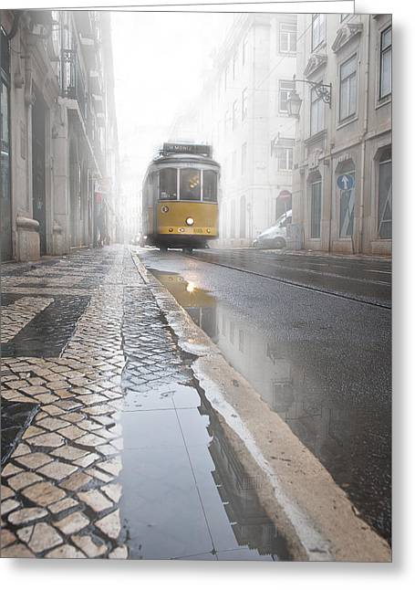 Lisbon Greeting Cards - Out of the haze Greeting Card by Jorge Maia