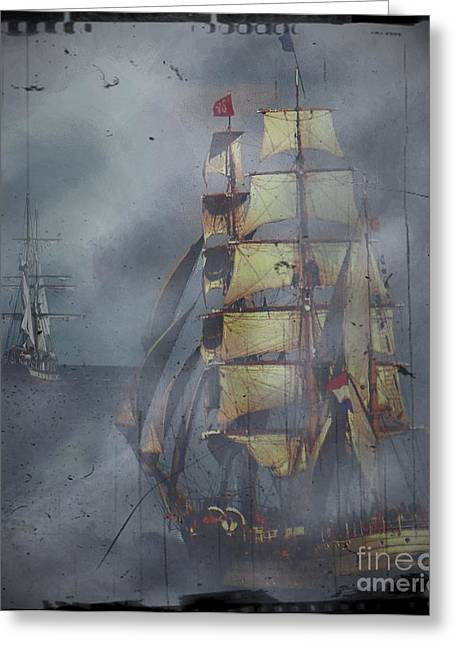 Masts Greeting Cards - Out of the Mist Greeting Card by Blair Stuart