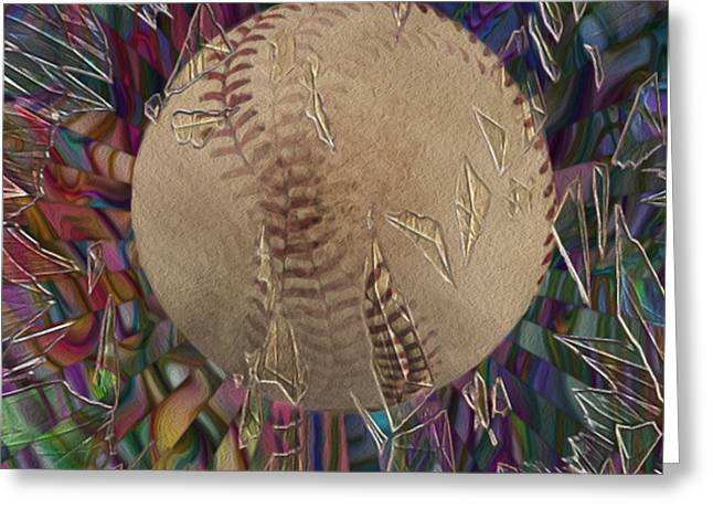 Baseball Bat Greeting Cards - Out Of The Park Greeting Card by Jack Zulli