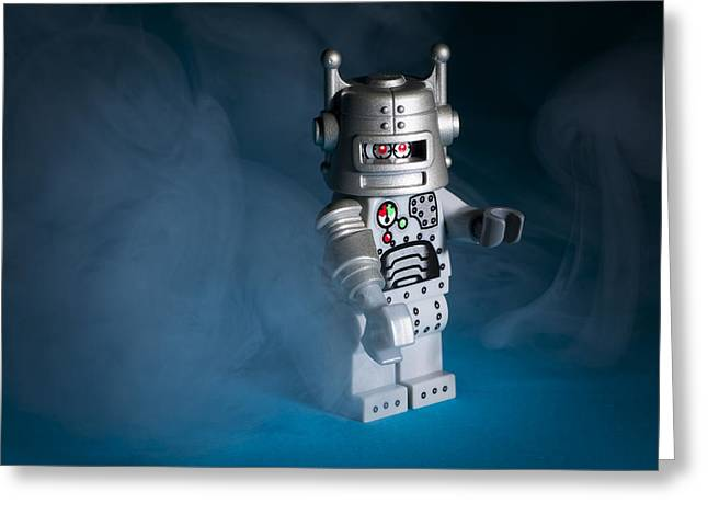 Lego Greeting Cards - Out of the Smoke Greeting Card by Samuel Whitton