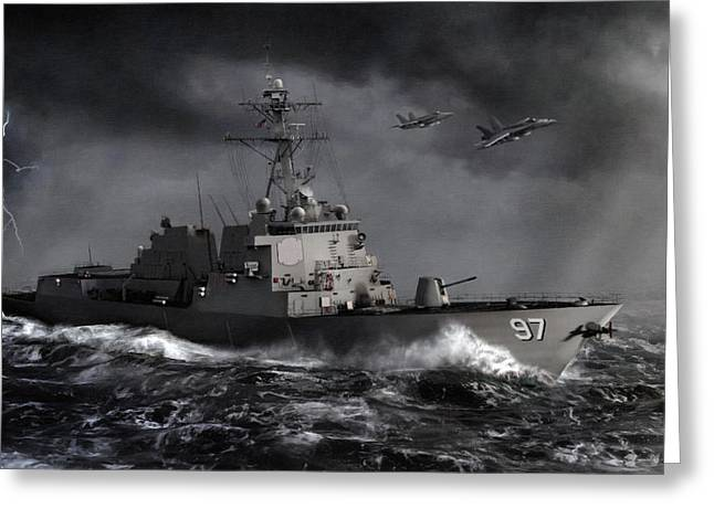 F-18 Greeting Cards - Out of the Storm Greeting Card by Dale Jackson