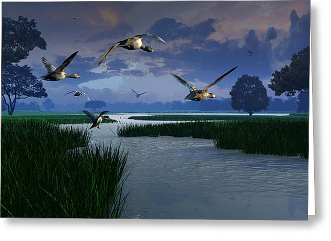Storm Digital Art Greeting Cards - Out of the Storm Greeting Card by Dieter Carlton