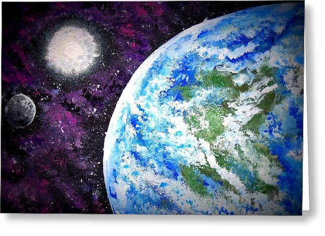 Enterprise Paintings Greeting Cards - Out of This World Greeting Card by Daniel Nadeau