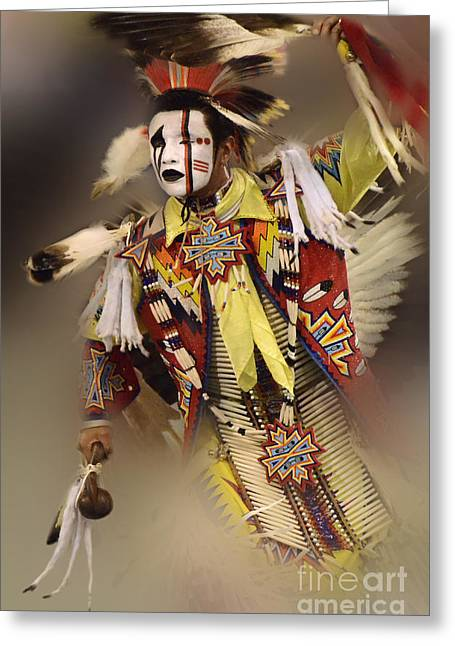 First Tribes Greeting Cards - Pow Wow Out Of Time Greeting Card by Bob Christopher
