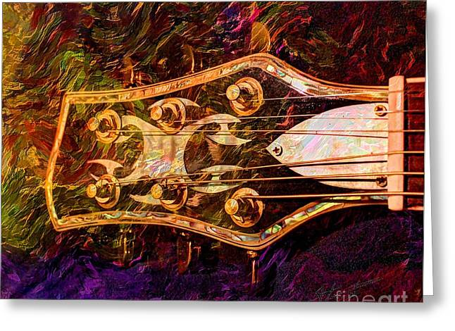Acoustical Digital Art Greeting Cards - Out Of Tune Digital Guitar Art by Steven Langston Greeting Card by Steven Lebron Langston