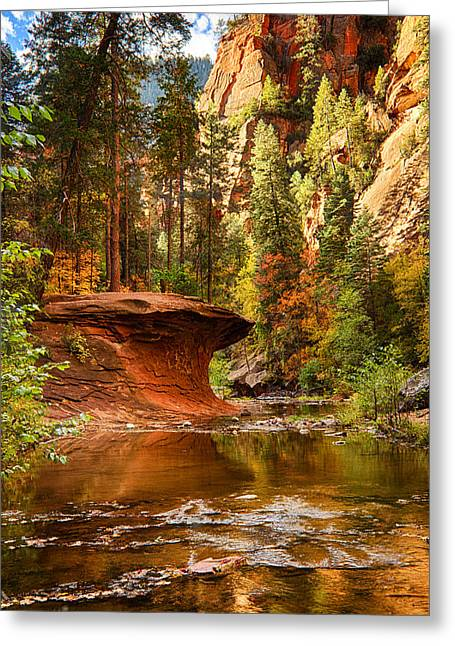 West Fork Greeting Cards - Out on a Ledge  Greeting Card by Saija  Lehtonen