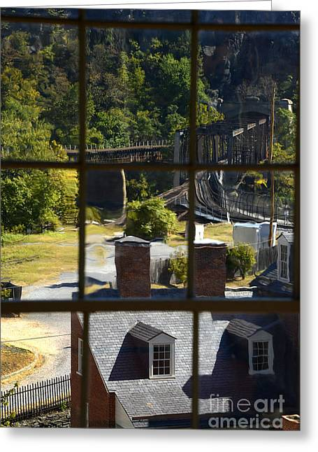 Harpers Ferry Photographs Greeting Cards - Out Our Window Greeting Card by Paul W Faust -  Impressions of Light