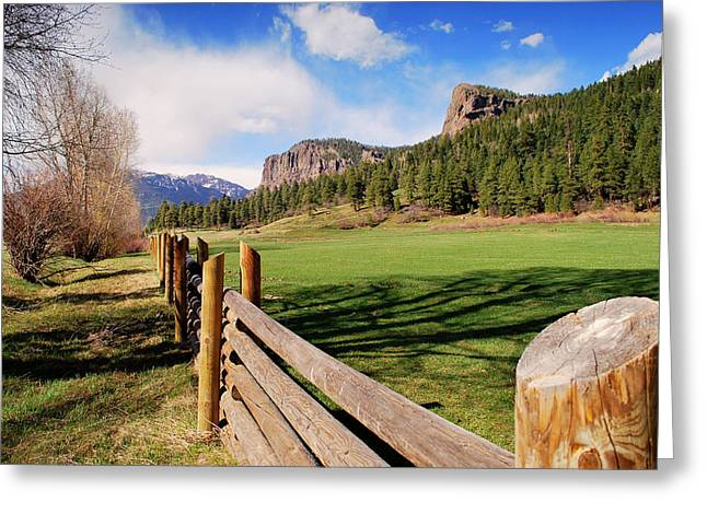 Out Riding Fences Greeting Card by Gregory Ballos