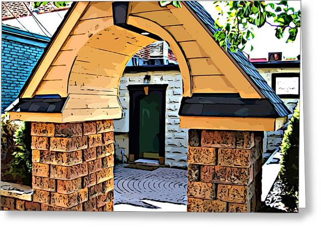 Mj Greeting Cards - Out the Back Door Greeting Card by MJ Olsen