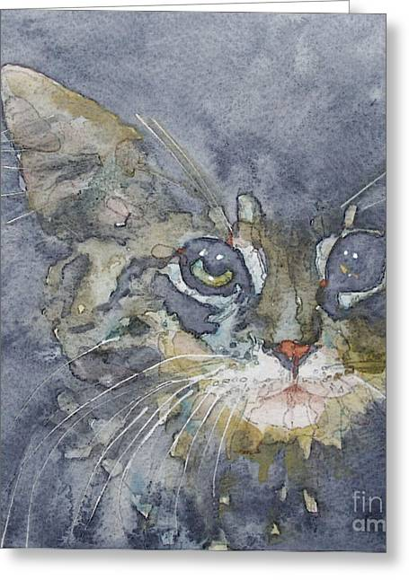 Tabby Greeting Cards - Out The Blue You Came To Me Greeting Card by Paul Lovering