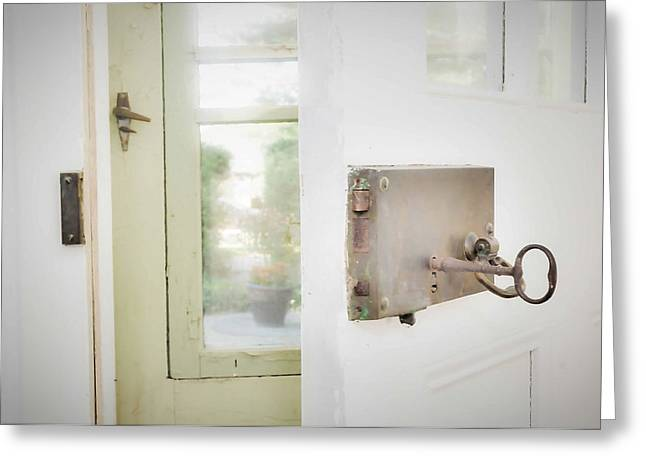 Screen Doors Greeting Cards - Out the door Greeting Card by Path Joy Snyder