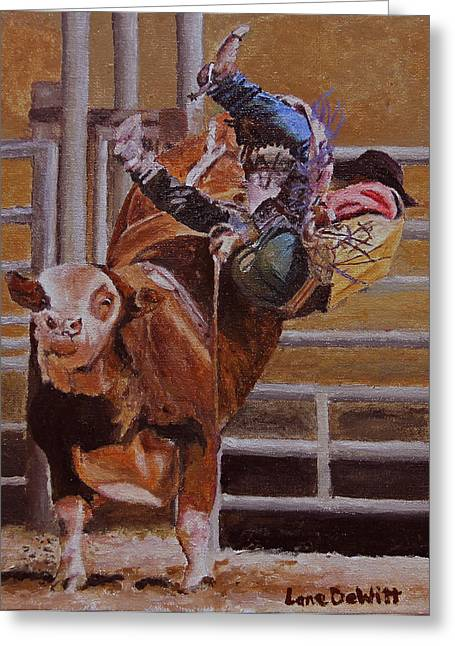 Pbr Greeting Cards - Out the side door Greeting Card by Lane DeWitt