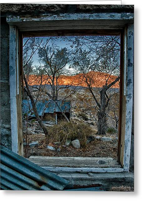 Eastern Sierra Greeting Cards - Out the Window Greeting Card by Cat Connor