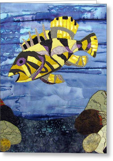 Out To Lunch Greeting Card by Lynda K Boardman