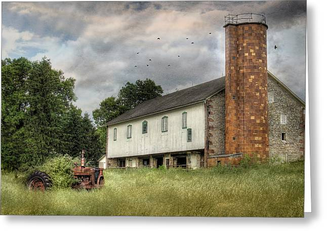 Barn Digital Greeting Cards - Out to Pasture Greeting Card by Lori Deiter
