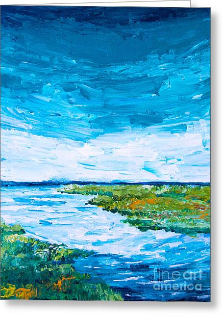 Marsh Scene Greeting Cards - Out to Sea Greeting Card by Alexandra Nicole Newton