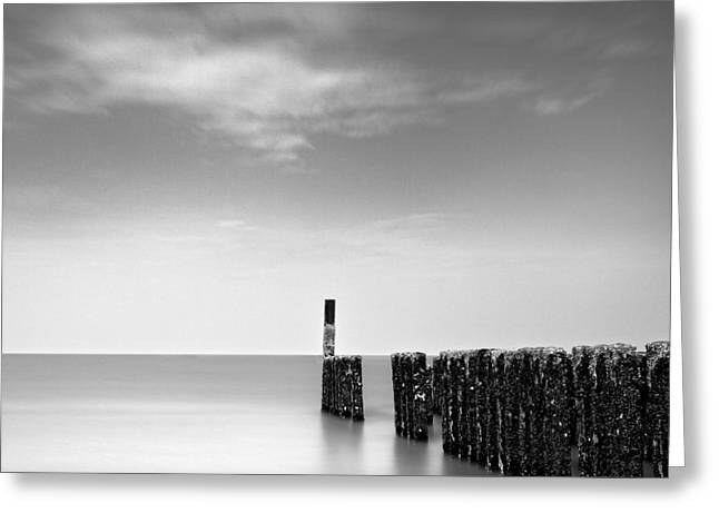 Minimalist Landscape Greeting Cards - Out to Sea Greeting Card by Dave Bowman
