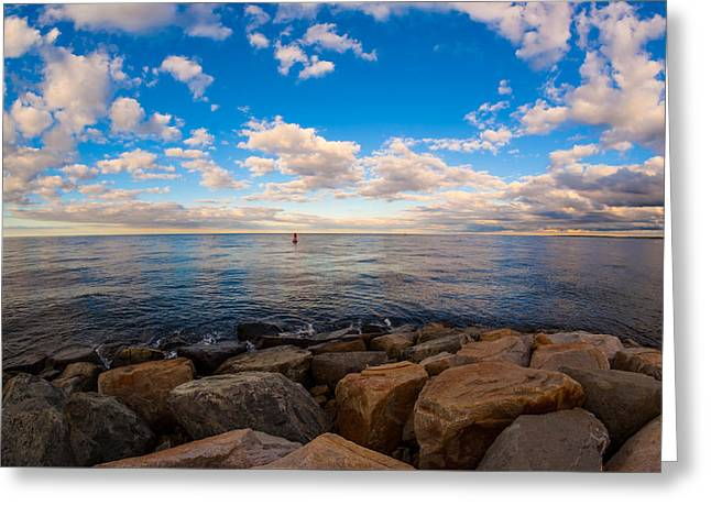 Scusset Beach. Greeting Cards - Out to the Bay Greeting Card by Michael Hunter