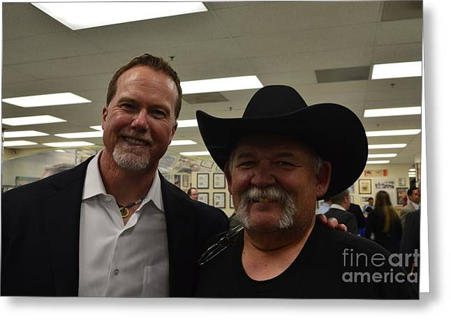 Mark Mcgwire Greeting Cards - Out with Mark McGwire Greeting Card by Tommy Anderson