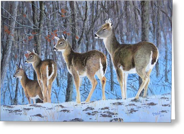 White Tail Pastels Greeting Cards - Out with the Girls Greeting Card by Marcus Moller