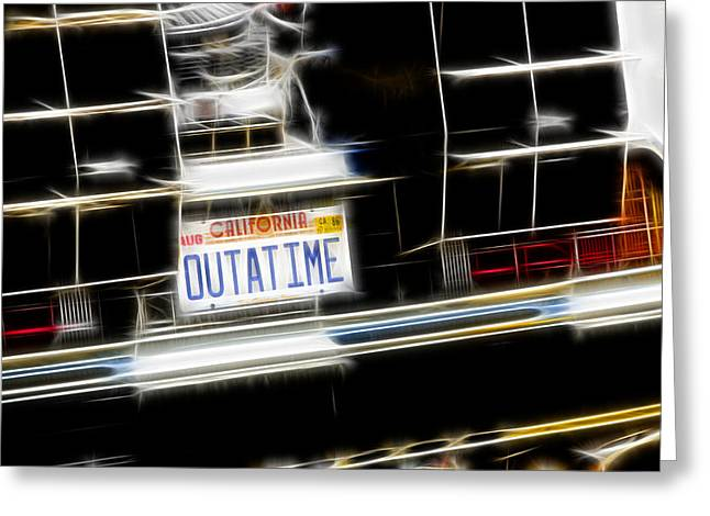 Outatime Fractal Greeting Card by Ricky Barnard