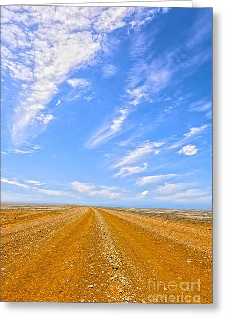 Gravel Road Greeting Cards - Outback Australia Greeting Card by Colin and Linda McKie