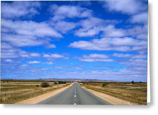 Roadway Greeting Cards - Outback Highway Australia Greeting Card by Panoramic Images