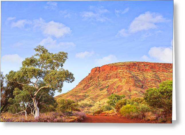 Nameless Greeting Cards - Outback Mount Nameless Western Australia Greeting Card by Colin and Linda McKie