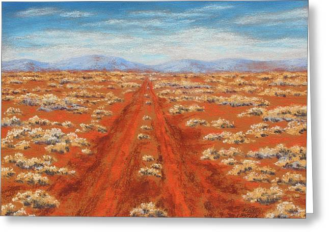 Outback Pastels Greeting Cards - Outback track Greeting Card by David Clode