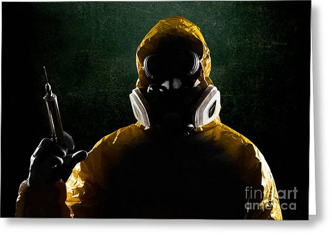 Respirator Greeting Cards - Outbreak Greeting Card by Jt PhotoDesign
