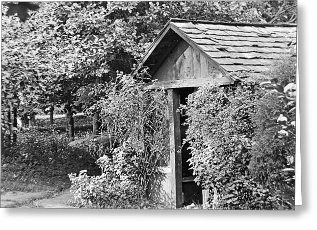 Outbuildings Greeting Cards - Outbuilding Outhouse Arden Delaware 1919 Greeting Card by A Gurmankin