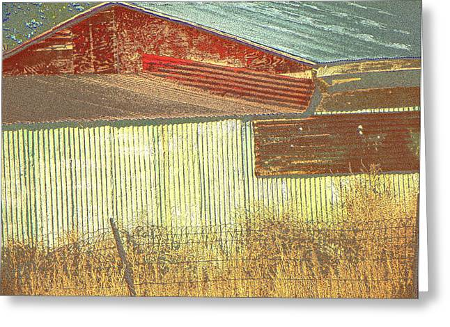 Outbuildings Greeting Cards - Outbuildings #1 Greeting Card by Lenore Senior