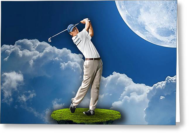 Golf Greeting Cards - Outdoor Golf Greeting Card by Marvin Blaine