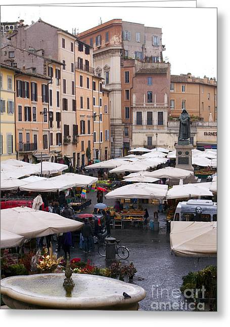 Outdoor Market Greeting Cards - Outdoor Market, Rome Greeting Card by Tim Holt