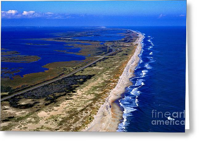 Pea Island Greeting Cards - Outer Banks Aerial Greeting Card by Thomas R Fletcher