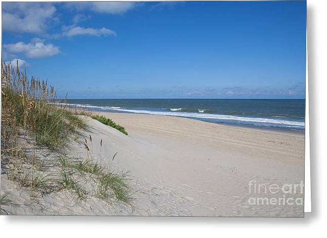 Sea Oats Greeting Cards - Outer Banks Beach  Greeting Card by Kay Pickens