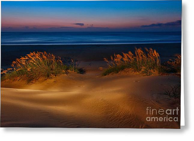 Pea Island Greeting Cards - Outer Banks - Before Sunrise on Pea Island I Greeting Card by Dan Carmichael
