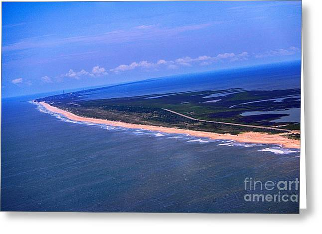 Rodanthe Greeting Cards - Outer Banks Coastline Greeting Card by Tony Cooper