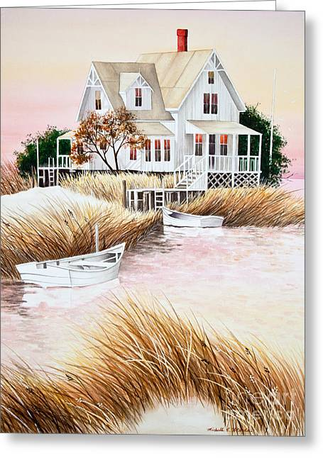 Michelle Greeting Cards - Outer Banks Summer Morning Greeting Card by Michelle Wiarda
