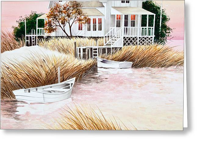 Outer Banks Summer Morning Greeting Card by Michelle Wiarda