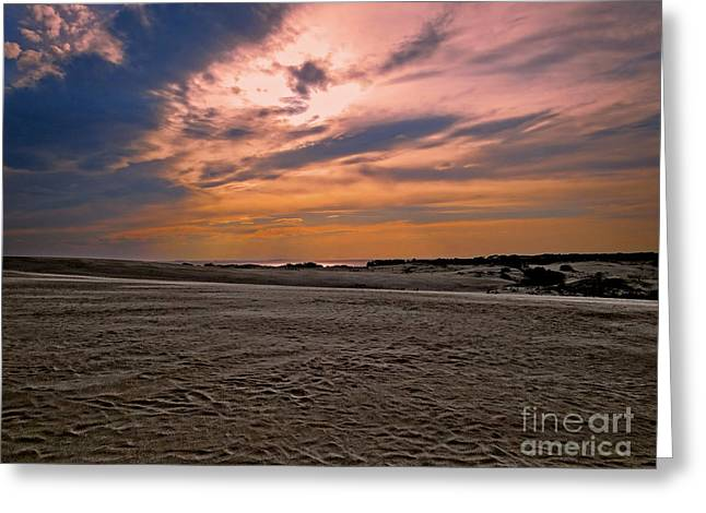 Scenic Greeting Cards - Outer Banks Sunset Greeting Card by Dawn Gari