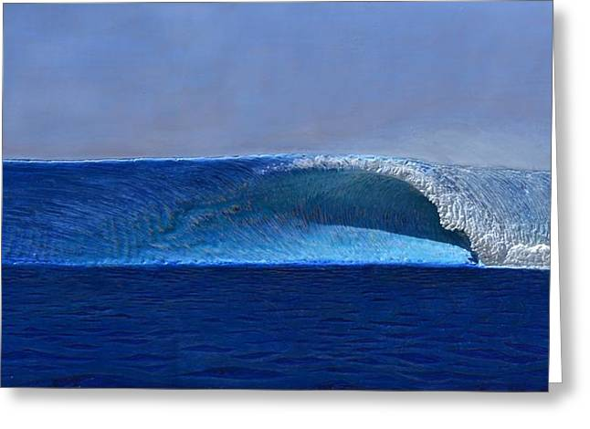 Surfing Art Greeting Cards - Outer Reef Greeting Card by Nathan Ledyard