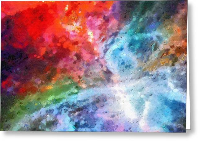 Outer Space Paintings Greeting Cards - Outer space patterns Greeting Card by Magomed Magomedagaev