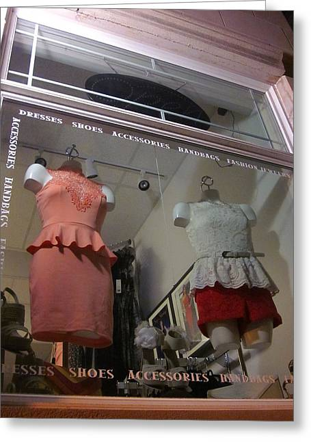 Guy Ricketts Photography Greeting Cards - Outfits Under Glass Greeting Card by Guy Ricketts