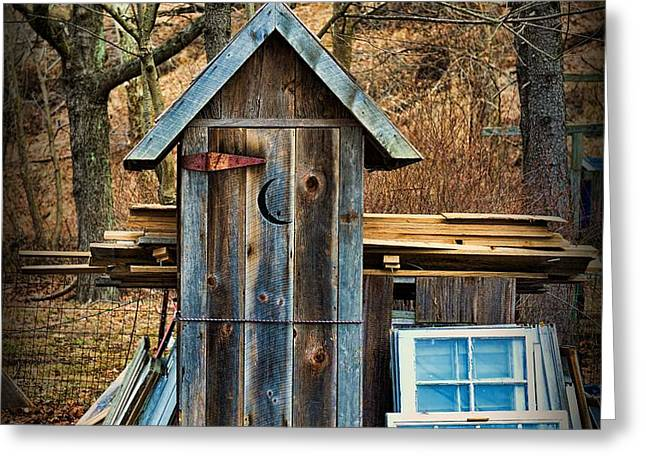 Outhouse - 5 Greeting Card by Paul Ward