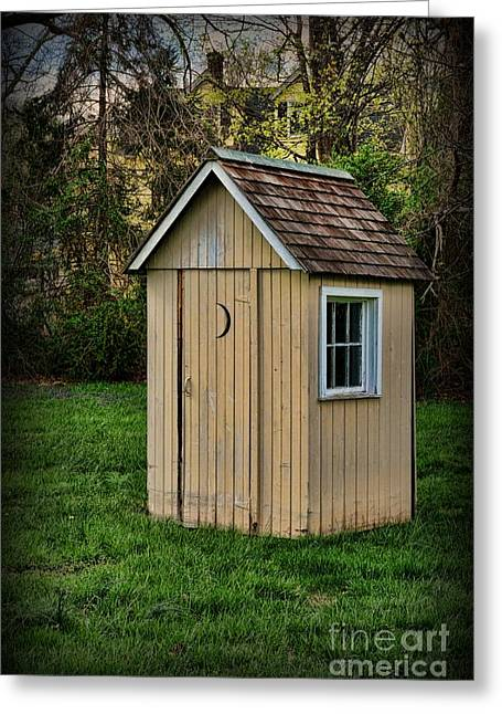 Falling Apart Greeting Cards - Outhouse - 8 Greeting Card by Paul Ward