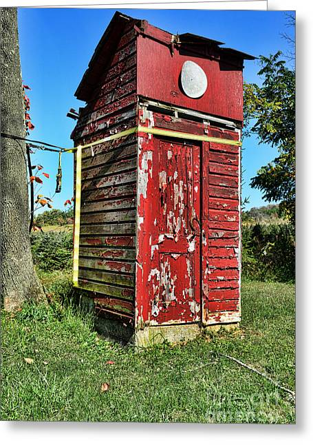 Falling Apart Greeting Cards - Outhouse 9 Greeting Card by Paul Ward