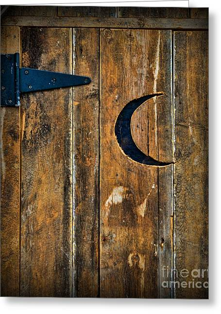 Outhouse Greeting Cards - Outhouse Door  Greeting Card by Paul Ward