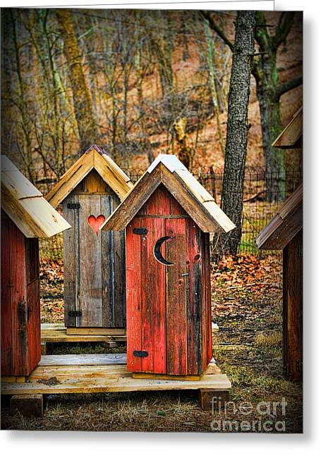 Falling Apart Greeting Cards - Outhouse Its Your Pick Greeting Card by Paul Ward